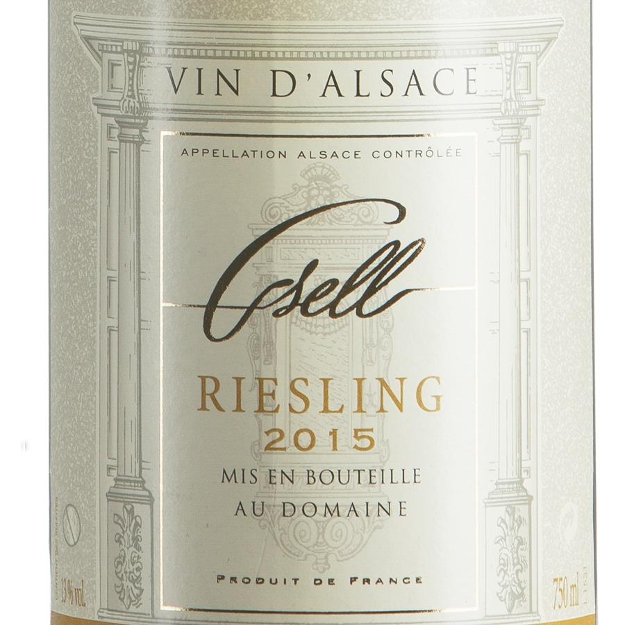 Riesling d'Alsace AOP Biologico millesimato 2015 etichetta
