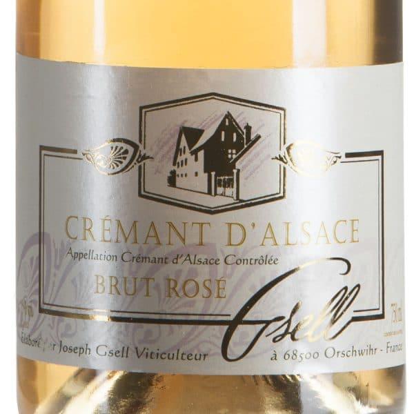 Cremant d'Alsace Rosé Pinot Noir Biologico etichetta