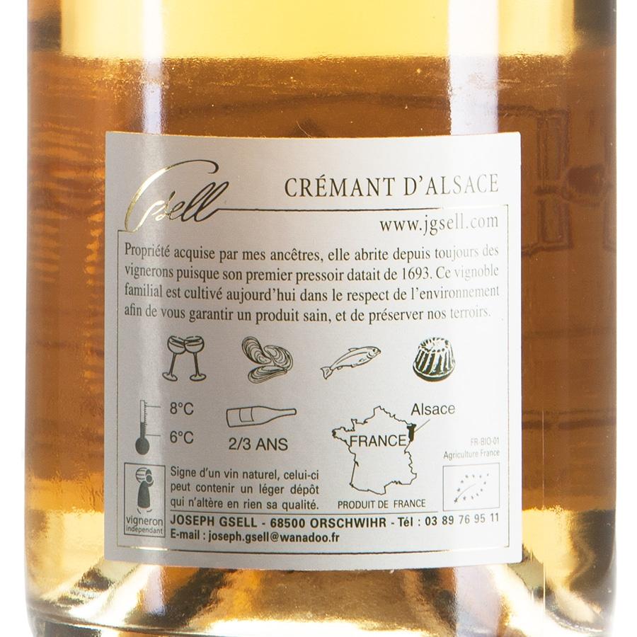 Cremant d'Alsace Rosé Pinot Noir Biologico etichetta retro