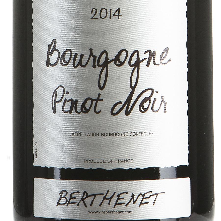 Pinot Noir Bourgogne millesimato 2014 etichetta