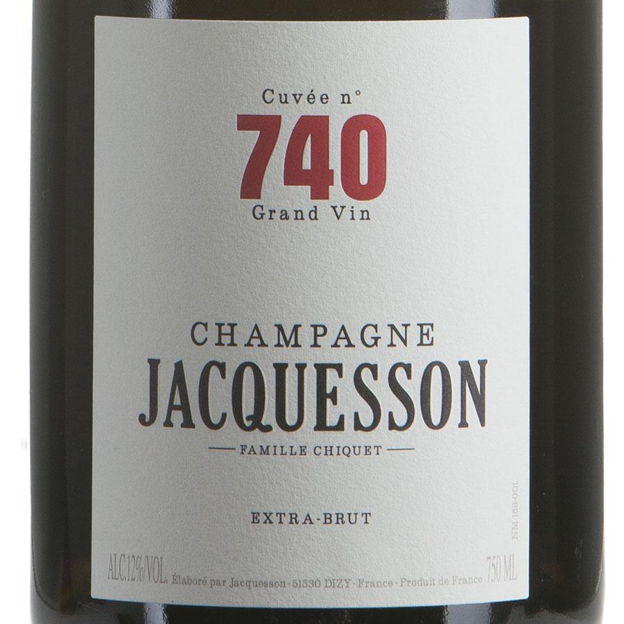 Champagne Jacquesson 740 Extra Brut etichetta