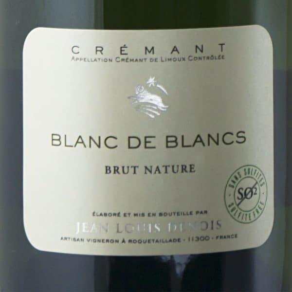 Crémant Blanc de Blancs senza solfiti etichetta